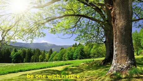 be one with nature